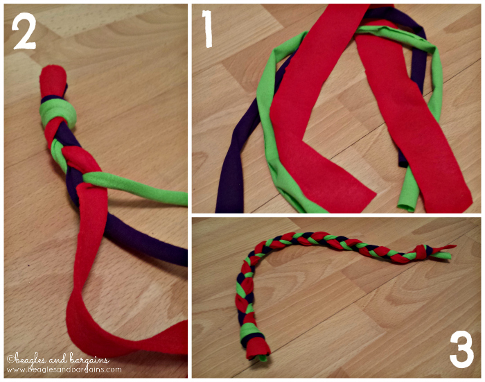 DIY rope and ring dog toys can also be multi-colored!