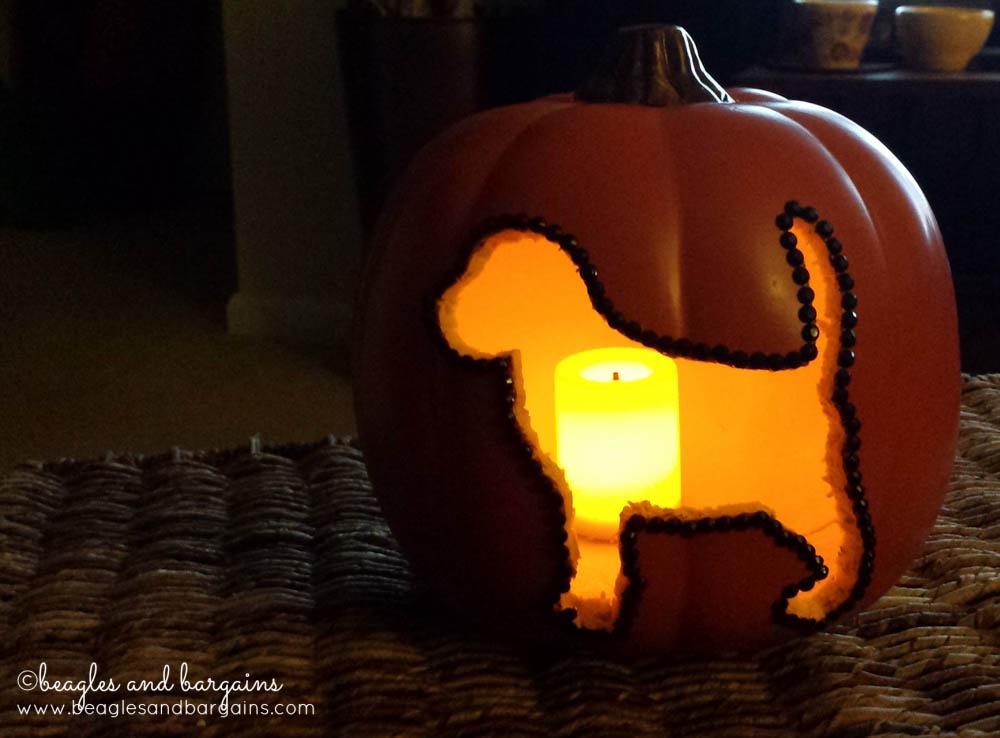 DIY Dog Silhouette Carvable Pumpkins