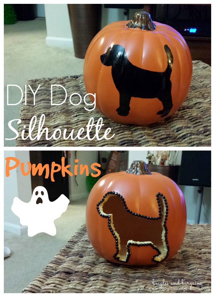 DIY Dog Silhouette Pumpkins