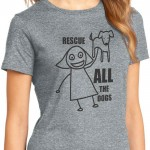 Stylish Canine Rescue ALL The Dogs T-Shirt
