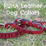 RUHA Leather Dog Collars