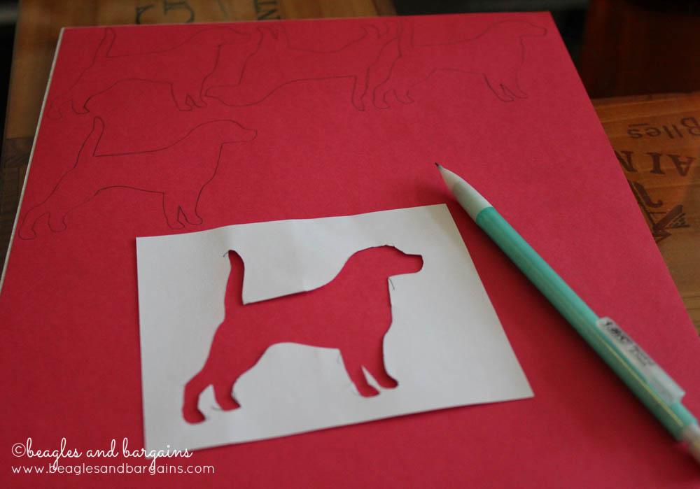 DIY Valentine's Day Dog Silhouette Garland - Dog Silhouettes