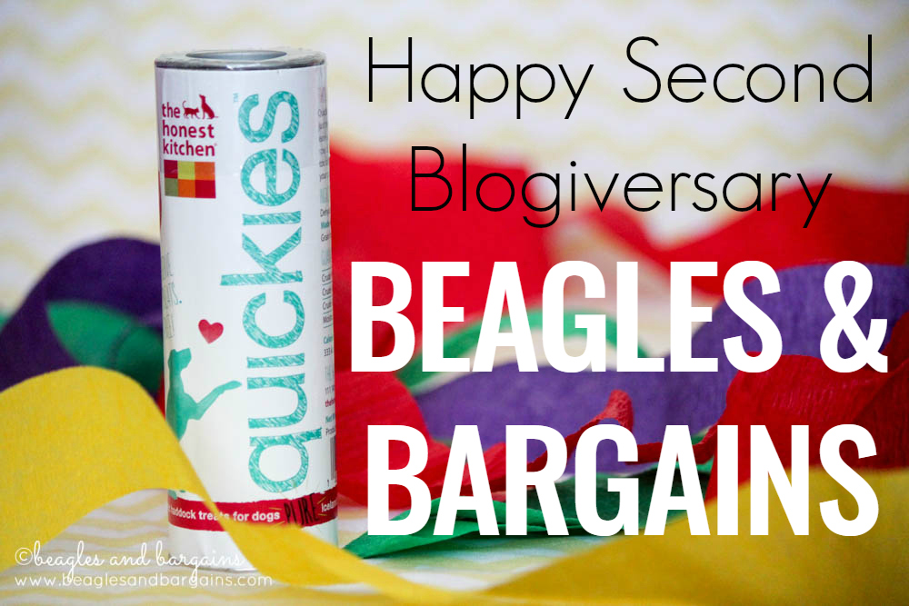 Happy Second Blogiversary Beagles & Bargains - The Honest Kitchen Quickies