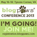 I'm going to BlogPaws 2013 badge
