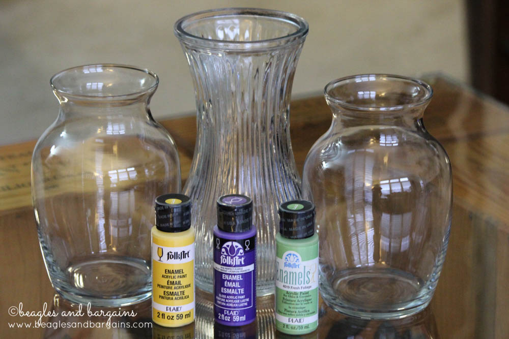 Diy upcycled painted glass vase for How do i paint glass