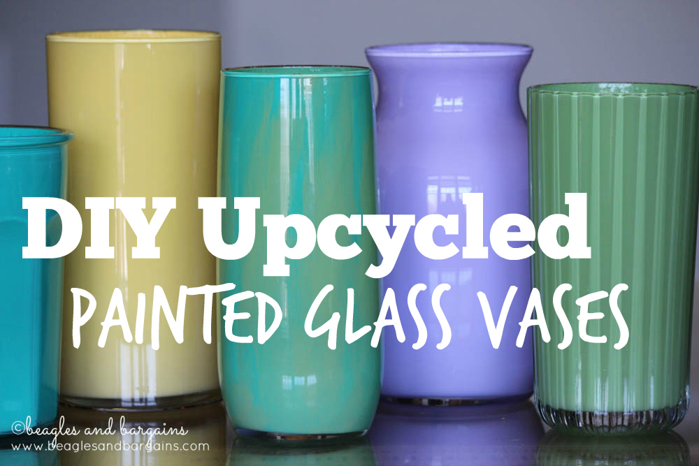 Upcycled Painted Glass Vase