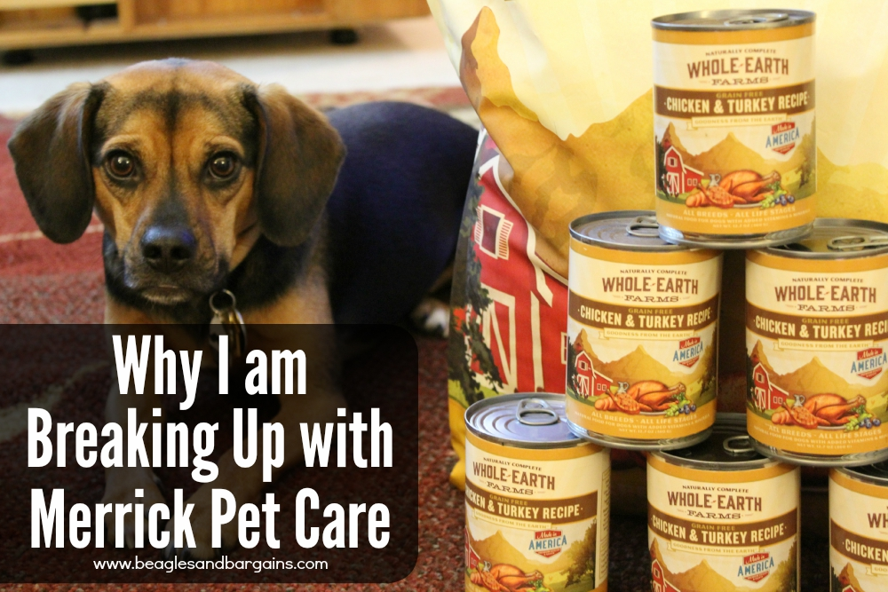why i am breaking up with merrick pet care