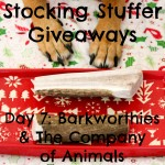 Stocking Stuffer Giveaway Day 7: Barkworthies and The Company of Animals