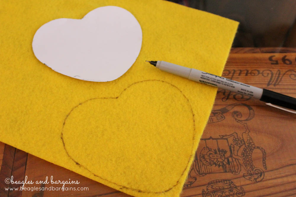 Step 1 - DIY Valentine Sweethearts Costume for Dogs