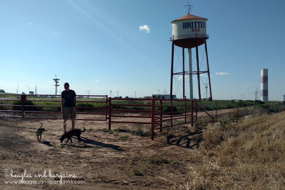 Pit stop to see the Britten Leaning Water Tower in Groom, Texas - RoadTrippinBeagle