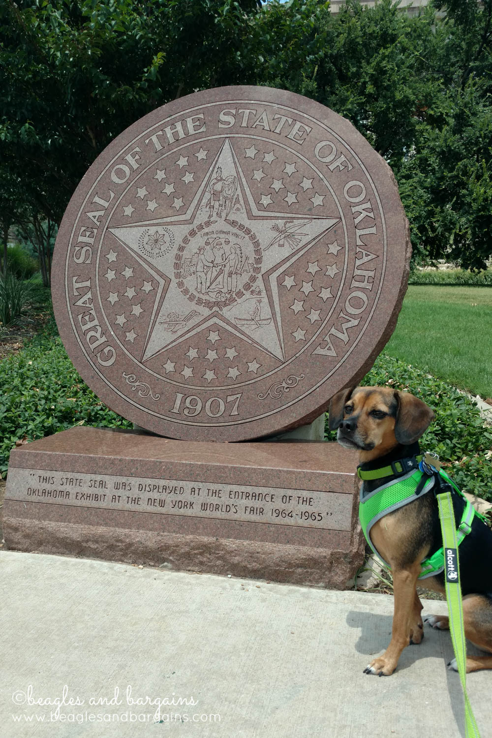 Luna visits the State Capitol in Oklahoma City - RoadTrippinBeagle