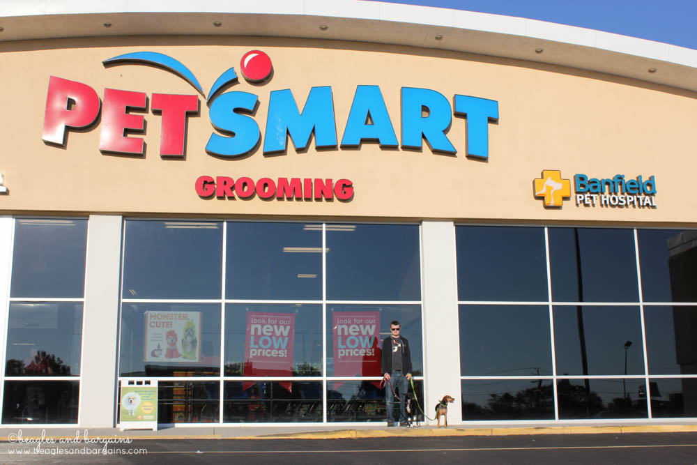 Shopping trip to our local PetSmart to pick up Wellness CORE.