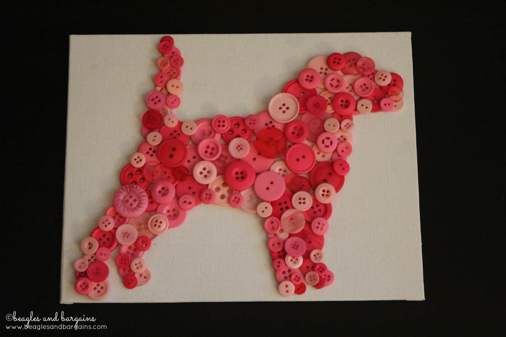 DIY Pet Inspired Button Art -  Step 4 - Let the glue dry