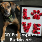DIY Pet Inspired Button Art + Printable Pattern