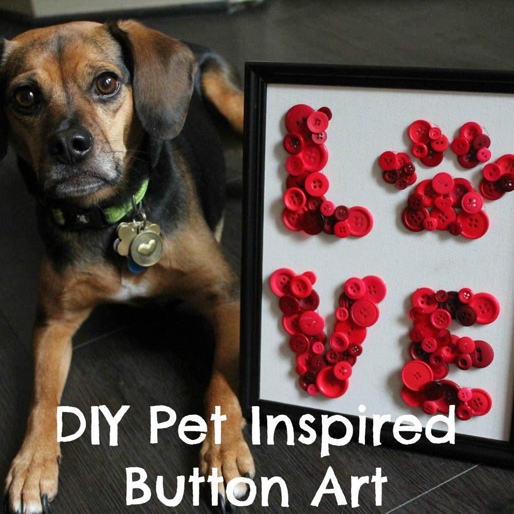 DIY Pet Inspired Button Art + Printable Template