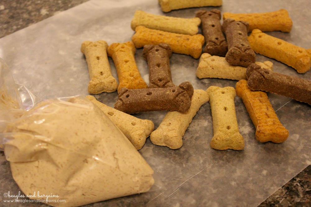 Turn store bought dog treats into festive treats!