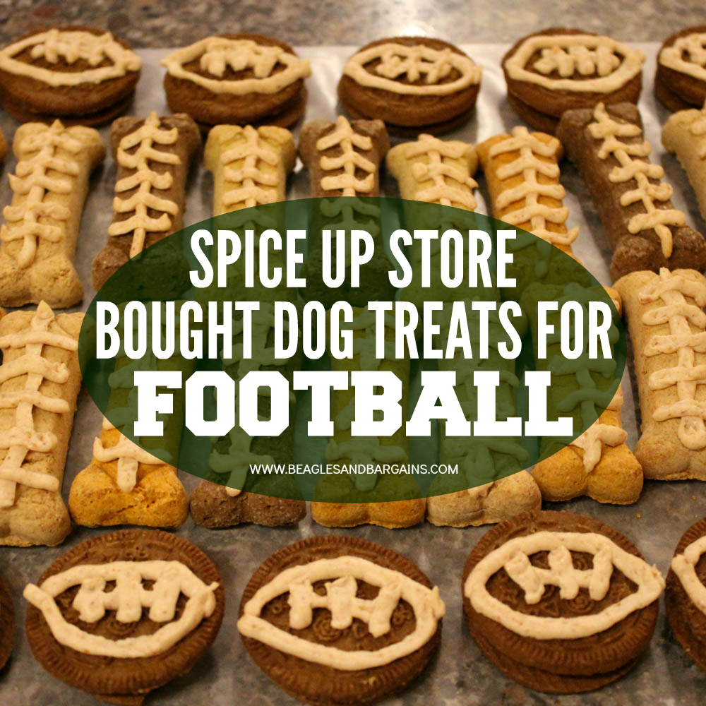 How to Spice Up Store Bought Dog Treats for Football Season or Super Bowl