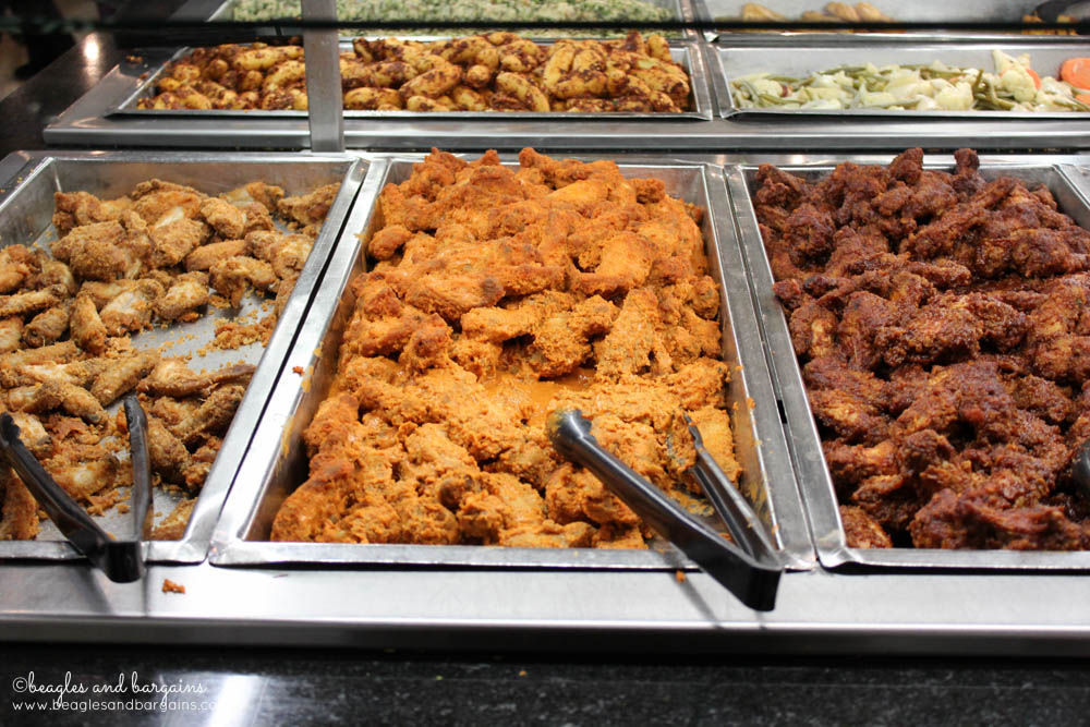 Buffalo wings hot bar at Whole Foods Market in Fairfax, Virginia