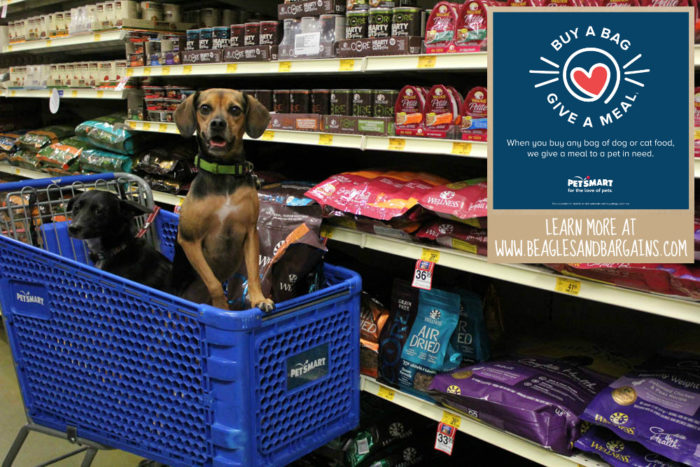 "PetSmart Launches ""Buy a Bag, Give a Meal"" Program to Help Pets in Need #fortheloveofpets"