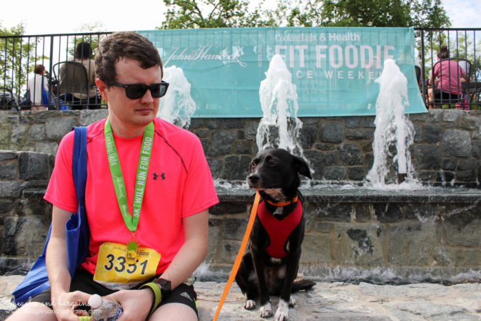 The Fit Foodie 5K is finished. Now time for Struan & Ralph to celebrate!