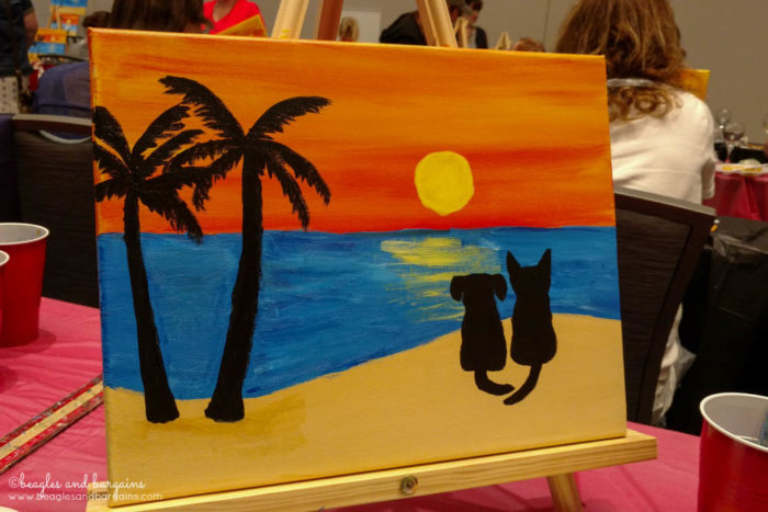 BlogPaws 2017 - Sip & Paint - Sponsored by Red Roof Inn