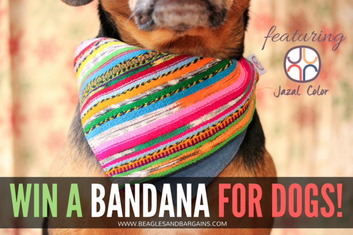 How Your Dog's Bandanas Can Give Back | Stocking Stuffer Giveaways | Win a Bandana for Dogs |  #sponsored by Jazal Color