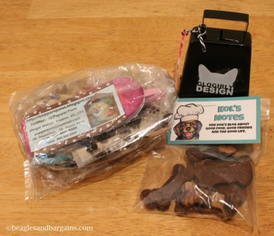 Our favorite swag from BlogPaws was from our blogging friends, Pepper Paws, Kol's Notes, and Glogirly.