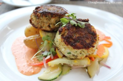 Beautiful crab cakes from Grandale Restaurant.