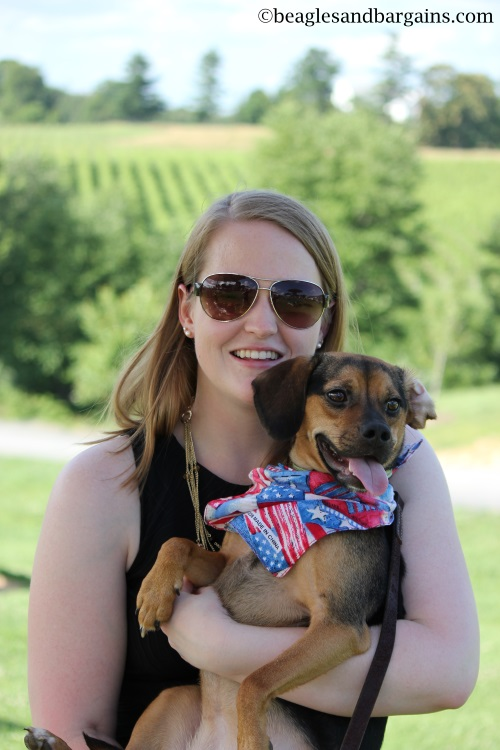 Luna and I celebrate my 23rd Birthday at Barrel Oak Winery.