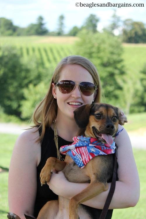 Luna and I celebrate my 23rd Birthday at Barrel Oak Winery.