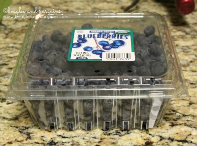 Blueberries used for Blueberry Drops.