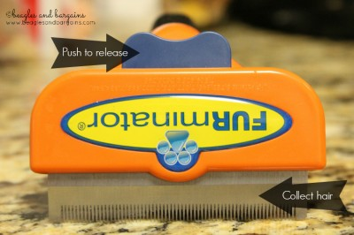 The FURminator deShedding Tool collects hair and releases it with ease.