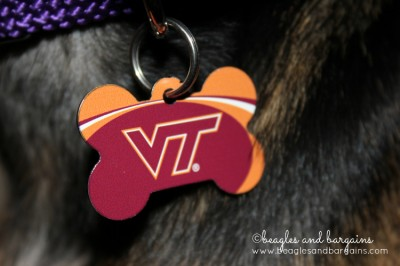 A fancy Virginia Tech dog tag makes a great accessory!