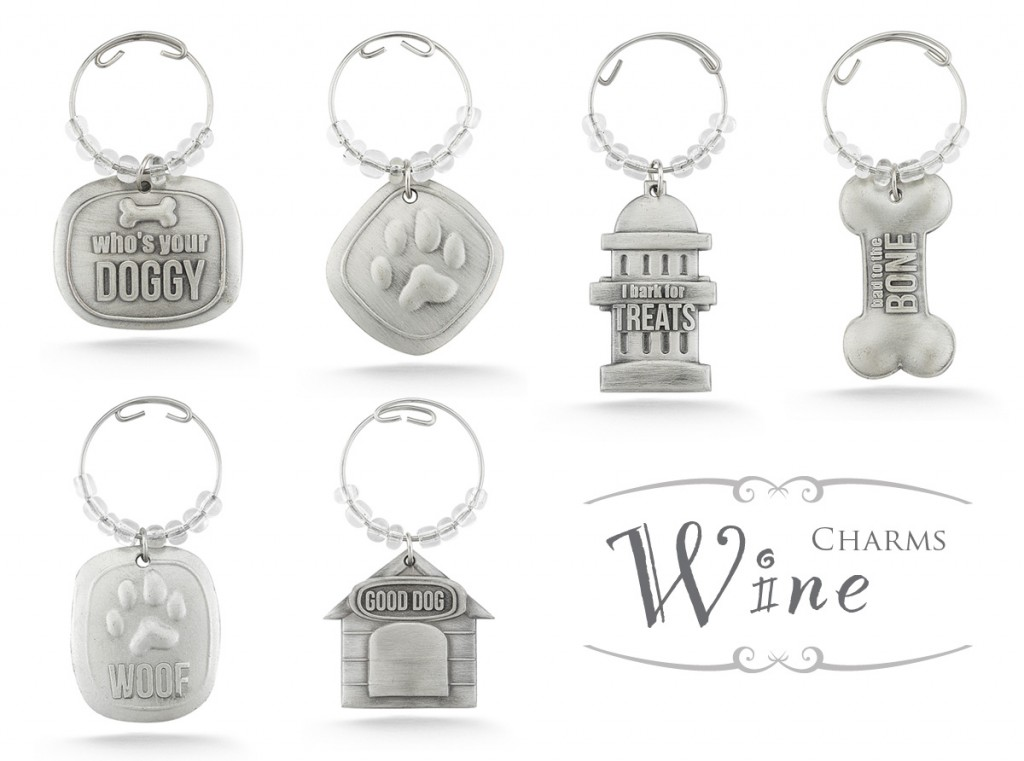 Dog Themed Wine Charms - Photo Courtesy of Coupaw