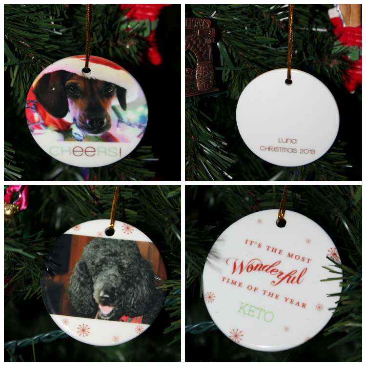 Just4MyPet has beautiful personalized Christmas ornaments.