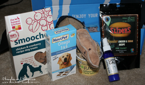A few products that came in our PetBox.