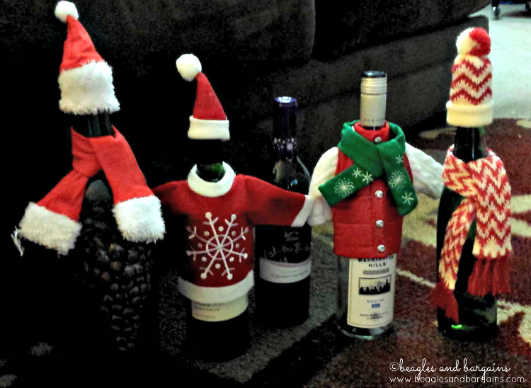 Christmas wine bottles will put a smile on your face!