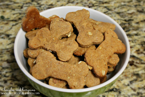 Peanut Butter Bacon Dog Treats for Super Bowl 2014