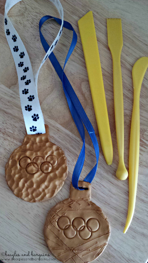 DIY Clay Doglympic Gold Medals.
