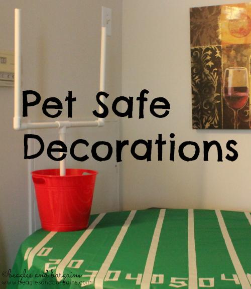 Pet safe decorations for Super Bowl 2014