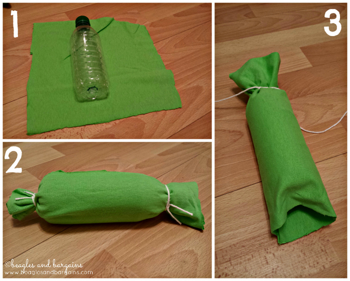 How to make a DIY bottle dog toy
