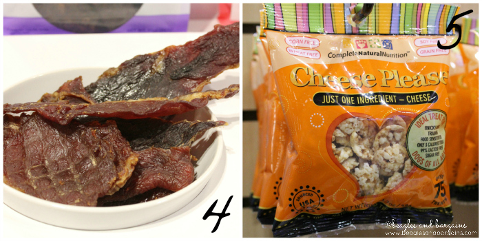 Full Moon Sliced Pork Jerky and Cheese Please from Global Pet Expo