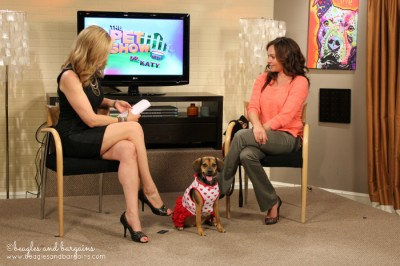 Luna during her first TV appearance