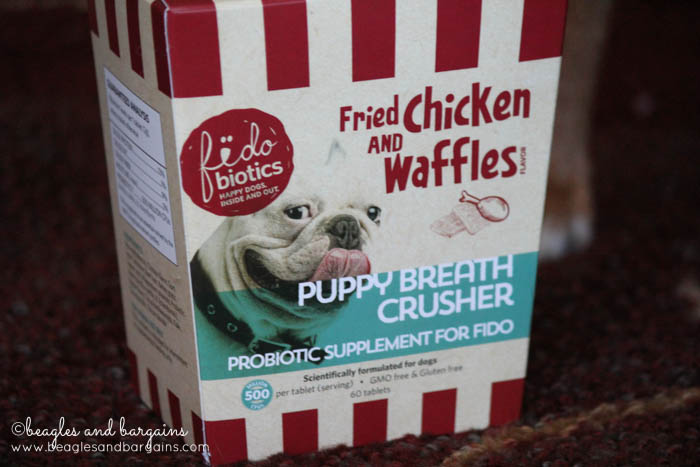 Fidobiotics Fried Chicken and Waffles Puppy Breath Crushers Probiotic