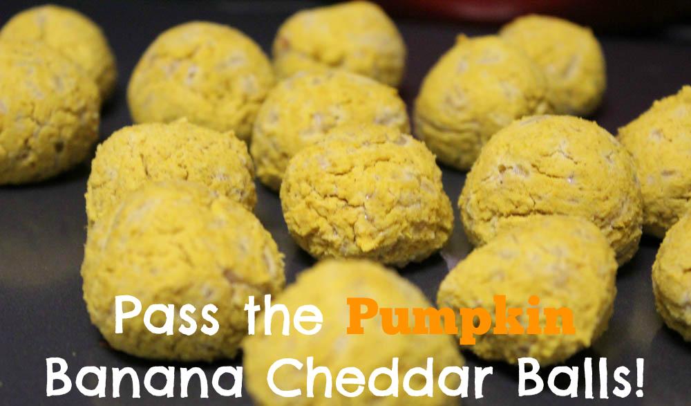 Pass the Pumpkin Banana Cheddar Balls!
