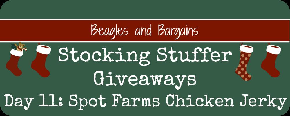 Stocking Stuffer Giveaway - Day 11 - Spot Farms Chicken Jerky