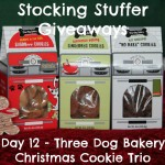 Stocking Stuffer Giveaway Day 12: Three Dog Bakery Christmas Cookie Trio