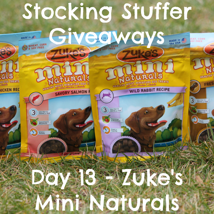 Stocking Stuffer Giveaway - Day 13 - Zuke's Mini Naturals