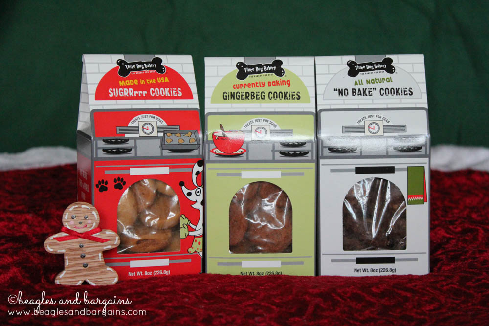 Stocking Stuffer Giveaway - Day 12 - Three Dog Bakery Christmas Cookie Trio
