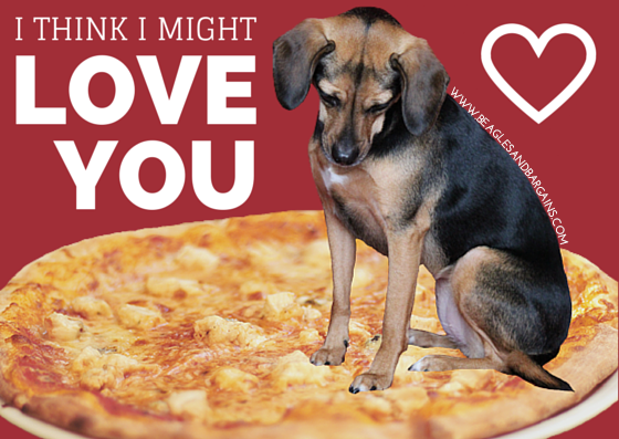 I think I might LOVE YOU - Printable Valentine's Day Cards for Dogs and Dog Lovers